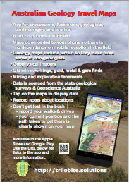 Aus Geology Travel Maps (with WA, Qld, NSW & Vic gold-tenement maps) A4_poster_geology